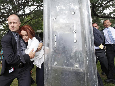 Australian Prime Minister Julia Gillard showing us all how strong and independent she is