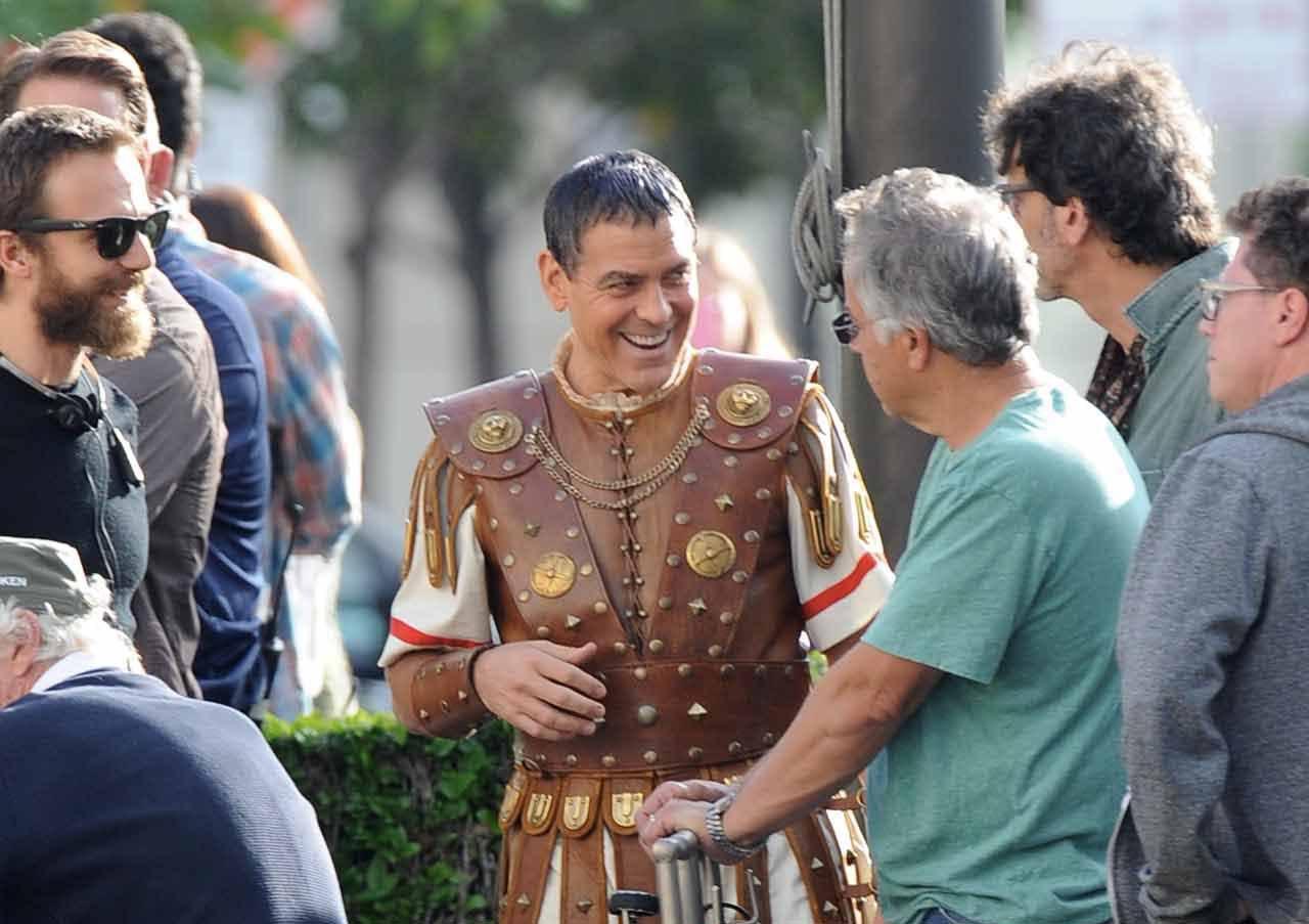 George Clooney as Julius Caesar the roman emperor